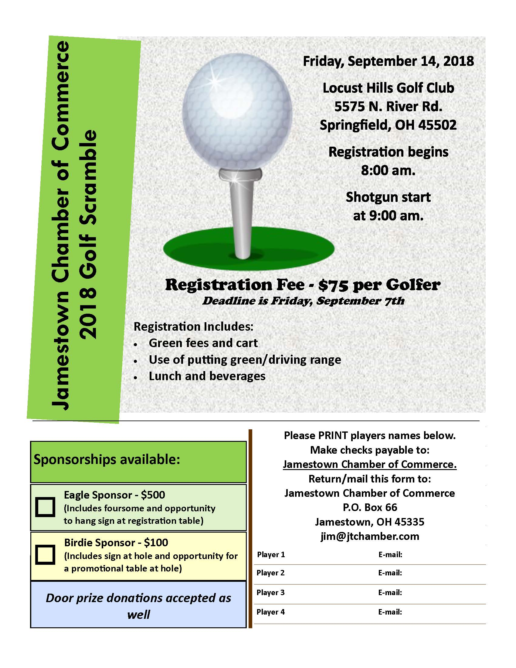 Golf Outing Flyer 2018
